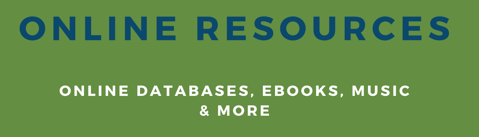 online resources for teens, databases, e-books, music and more
